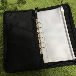 ムジルシリョウヒン(MUJI (無印良品))の無印パスポートケース 黒色 リフィル付き(日用品/生活雑貨)