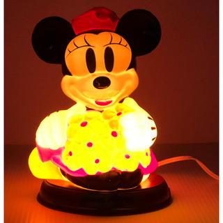 ディズニー(Disney)の( 美品 )アンティーク・レトロ調  Disney ミニーマウス テーブルランプ(テーブルスタンド)