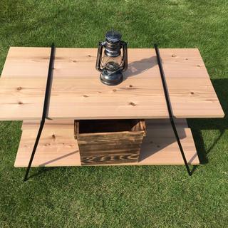 アイアンラック テーブル 鉄脚のみ 2脚 // シェルフ 机 ウッドテーブル(アウトドアテーブル)