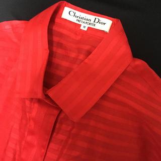 クリスチャンディオール(Christian Dior)の新品 ディオール ノースリーブシャツ(シャツ/ブラウス(半袖/袖なし))