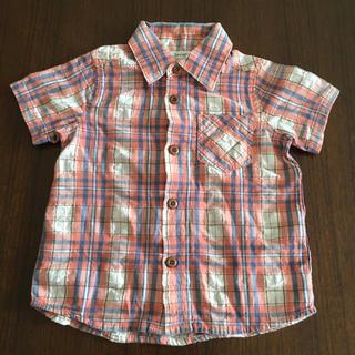 セラフ(Seraph)のSeraph 半袖前ボタンシャツ 90センチ チェック 子供服 ベビー服 F.O(ブラウス)