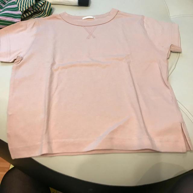 GU(ジーユー)のgu 110 ピンク tシャツ キッズ/ベビー/マタニティのキッズ服 男の子用(90cm~)(Tシャツ/カットソー)の商品写真