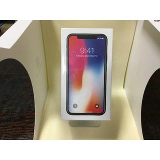 アップル(Apple)の【新品未開封】SoftBank iPhoneX 256GB 赤ロム永久保証(スマートフォン本体)