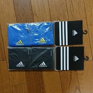 アディダス(adidas)の新品 アディダスリストバンド ブラック、ブルー2セット4個(その他)