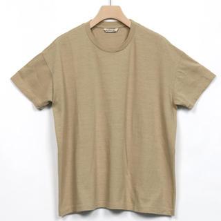 コモリ(COMOLI)の新品 タグつき オーラリー big tee 0(Tシャツ(半袖/袖なし))