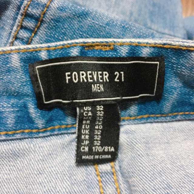 forever 21 forever 21 メンズジーンズの通販 by yupi s shop