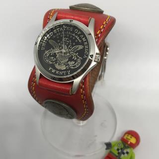 ケイシイズ(KC,s)の【状態〇】No7☆KC's☆チチカカ☆赤レッドベルト☆メンズ腕時計(腕時計(アナログ))