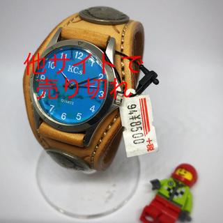 ケイシイズ(KC,s)の【状態〇】No8☆KC's☆チチカカ☆ブルー時計盤☆メンズ腕時計(腕時計(アナログ))