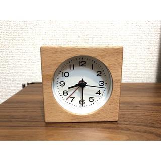 美品 無印 ブナ材 時計 使用4カ月★muji 無印良品 IDEE タモ(その他)