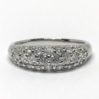 ✨K18 天然ダイヤモンド 1.00ct パヴェ リング✨(リング(指輪))
