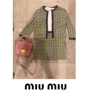 ミュウミュウ(miumiu)の冬セール  MIU MIU ツイードセットアップ(ノーカラージャケット)