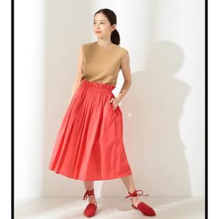 デミルクスビームス(Demi-Luxe BEAMS)のデミルクスビームス コットンギャザースカート(ひざ丈スカート)