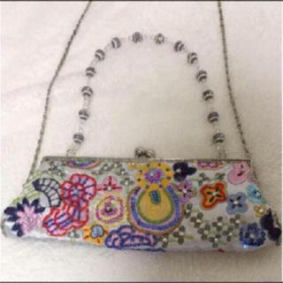 アルド(ALDO)の美品♡ALDO  ビジュー刺繍クラッチショルダーバック♡(クラッチバッグ)