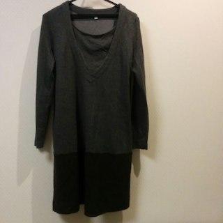 ムジルシリョウヒン(MUJI (無印良品))の中古 無印良品授乳服 size S-M グレー(マタニティワンピース)