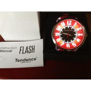 テンデンス(Tendence)のTendence フラッシュ 赤 ピンク クォーツ 腕時計 ユニセックス LED(腕時計)