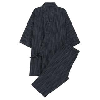 MUJI (無印良品) - 新品  無印良品  オーガニックコットンしじら織り 甚平