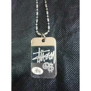 ステューシー(STUSSY)のStussy Necklace silver ラスタ ピース 8ボー シャネル(ネックレス)