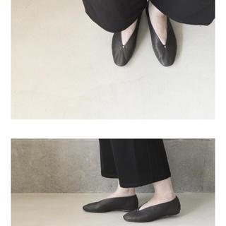 ネストローブ(nest Robe)の新品◯vieille Cinq 38(24.0cm) 黒(バレエシューズ)