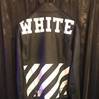 オフホワイト(OFF-WHITE)の激安特価品 14aw off-white ライダース(ライダースジャケット)
