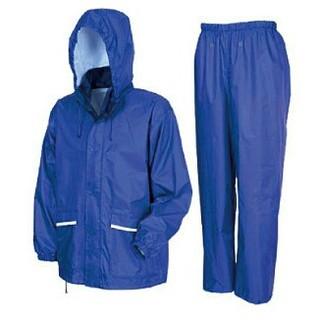 軽量・透湿 レインスーツ LLサイズ ロイヤルブルー カッパ 上下(レインコート)