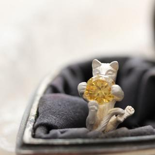 *ネコ・CATジルコニアリング(リング(指輪))