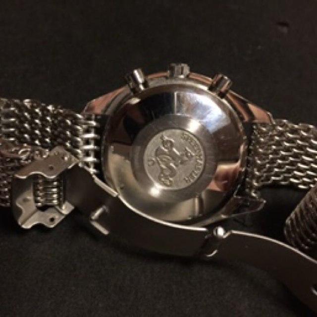 size 40 ed3b9 30834 オメガ スピードマスター 自動巻トリプルカレンダー 腕時計 希少シャークベルト