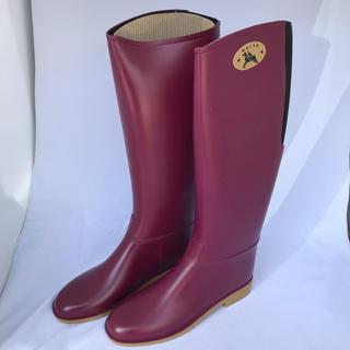 ダフナブーツ(Dafna Boots)の新品 箱付き ダフナ  dafna レインブーツ ボルドー 38 24㎝(レインブーツ/長靴)