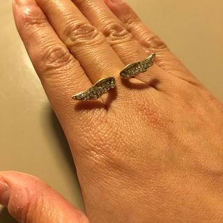天使の羽  指輪  リング  キラキラ ラインストーン(リング(指輪))
