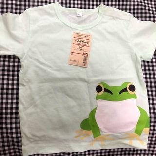 ムジルシリョウヒン(MUJI (無印良品))の無印良品 ベビーシャツ カエル グリーン 90サイズ タグ付き(Tシャツ/カットソー)