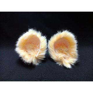【 ひよこネコミミ 】ヘアピンねこみみ◆黄色いヒヨコ風ねこ耳◆髪に着けられる猫耳(ヘアアクセサリー)