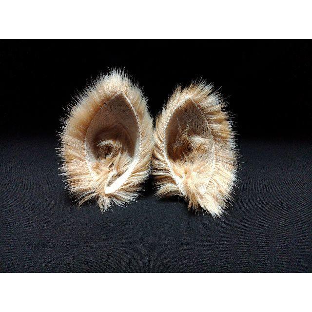 【 シカネコミミ 】ヘアピンねこみみ◆キャメルブラウン地に斑点の鹿風ねこ耳◆猫耳 ハンドメイドのアクセサリー(ヘアアクセサリー)の商品写真