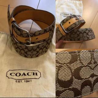 コーチ(COACH)のCOACH   コーチ シグネチャーベルト ロゴ ベルト レザーベルト M(ベルト)