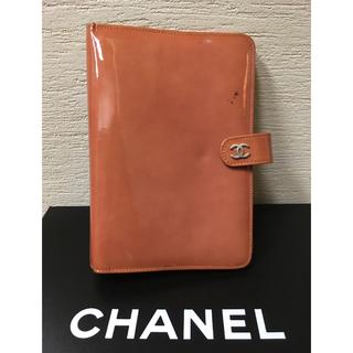 シャネル(CHANEL)のCHANEL 手帳 バイブルサイズ エナメル ベージュピンク 6穴 シャネル(カレンダー/スケジュール)