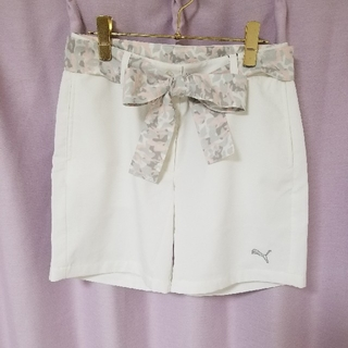プーマ(PUMA)の[新品] プーマ ゴルフウェア スポーツ ズボン パンツ 迷彩 ピンク ホワイト(ルームウェア)