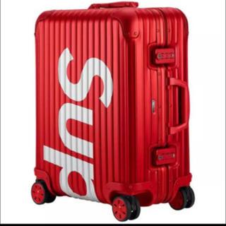 シュプリーム(Supreme)のsupreme × rimowa topas 45L Red(トラベルバッグ/スーツケース)