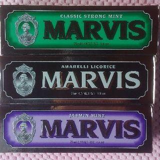 マービス(MARVIS)の全額返金可大きいサイズ 75ml Marvis マービス 3本セット 送料込み!(歯磨き粉)