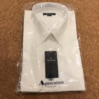 ♡Aquascutum♡新品 アクアスキュータム 白 ワイシャツ 紳士