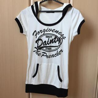 アルブム(ALBUM)のALBUM フードつきロゴT(Tシャツ(半袖/袖なし))