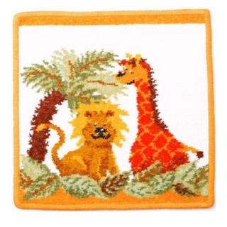 フェイラー(FEILER)のフェイラー 正規品 新品 ライオン キリン タオル ハンカチ オレンジ ヤシの木(ハンカチ)