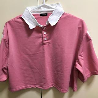 スピンズ(SPINNS)のピンク 襟付きポロシャツ(ポロシャツ)