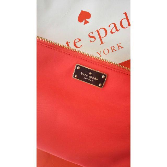 1cd3bb9c216b kate spade new york(ケイトスペードニューヨーク)のケイトスペード赤ナイロン軽量ショルダー