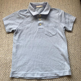 ジーユー(GU)のポロシャツ  ブルー  110(Tシャツ/カットソー)