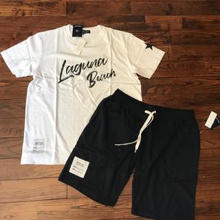 シマムラ(しまむら)のTシャツとハーフパンツのセットアップ LL メンズ(Tシャツ/カットソー(半袖/袖なし))