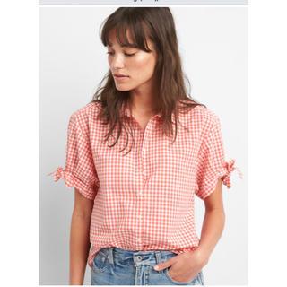 ギャップ(GAP)のチェックシャツ(シャツ/ブラウス(半袖/袖なし))