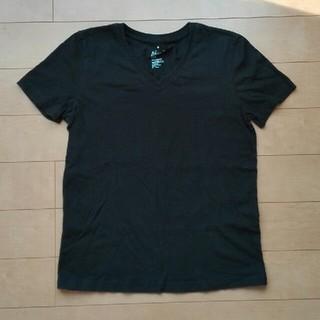 ムジルシリョウヒン(MUJI (無印良品))の無印良品 Tシャツ Vネック黒 Mサイズ(Tシャツ(半袖/袖なし))