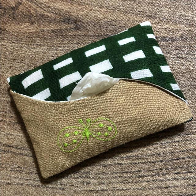mina perhonen(ミナペルホネン)のポケットティッシュケース♡ハンドメイド♡ミナペルホネン ハンドメイドのファッション小物(その他)の商品写真