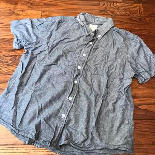 ブルーの半袖シャツ LLサイズ メンズ(シャツ)