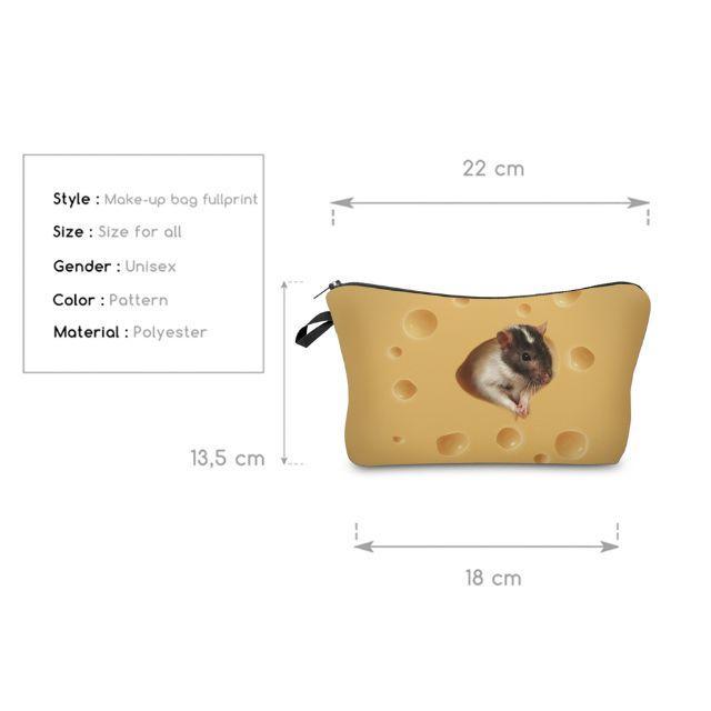 ねずみポーチ ねずみコスメポーチ ネズミ小物入れ 新品未使用品♪ その他のペット用品(小動物)の商品写真