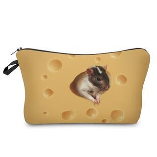 ねずみポーチ ねずみコスメポーチ ネズミ小物入れ 新品未使用品♪(小動物)