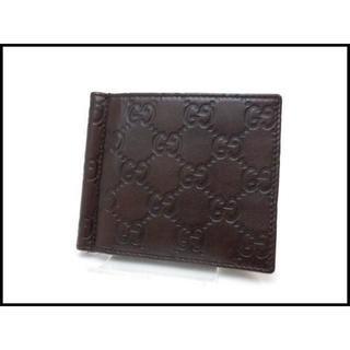 f46a5940454f グッチ(Gucci)のGUCCI グッチ グッチシマ マネークリップ 札入れ 折財布 170580(折り財布